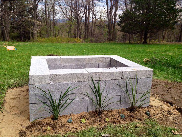 Best 25 cinder block fire pit ideas on pinterest for Concrete fire pit plans