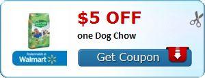 NEW $5 Off (1) 50 lb bag of Purina Dog Chow Dry Dog Food Printable Coupon! - http://wp.me/p56Eop-Pqs