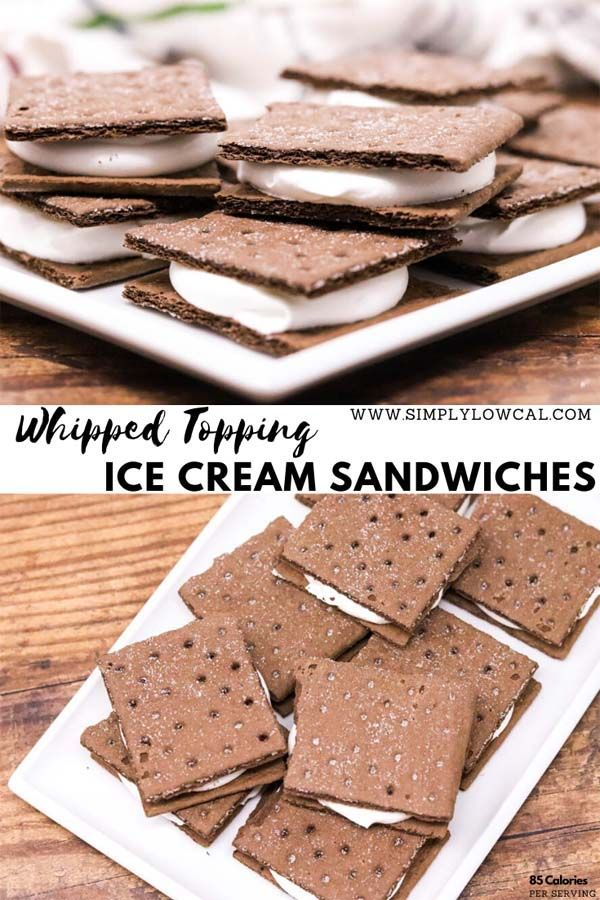 Whipped Topping Ice Cream Sandwiches Low Calorie Ww Friendly