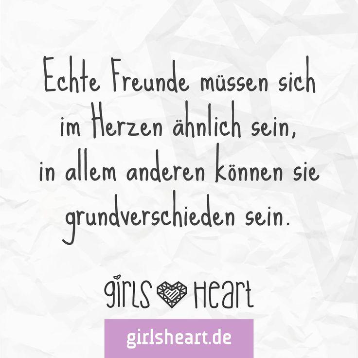 Auf echte Freunde!  Mehr Sprüche auf: www.girlsheart.de  #freunde #spaß #freundschaft