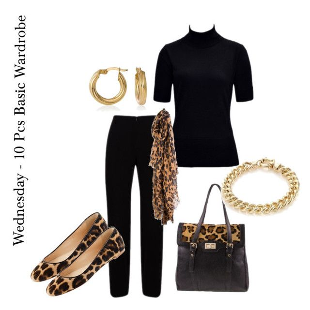 """""""Workshopping the 10 Piece Basic Wardrobe"""" by annabouttown ❤ liked on Polyvore featuring Gordon Smith, J.Crew, leopard print and ballet flats"""