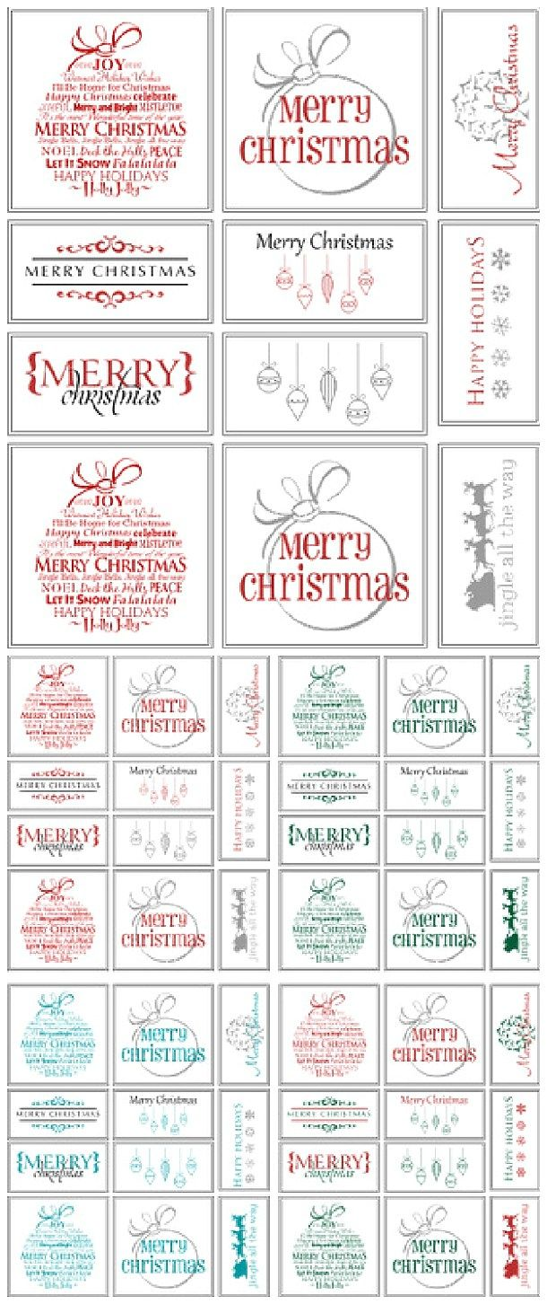 free printable holiday gift tags perfect for christmas in your choice of colors via belvedere