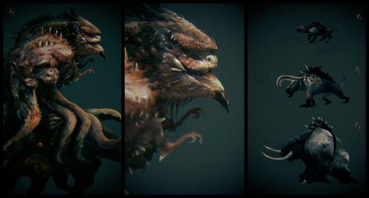 "Podívejte se na můj projekt @Behance: ""Creatures"" https://www.behance.net/gallery/45984377/Creatures."