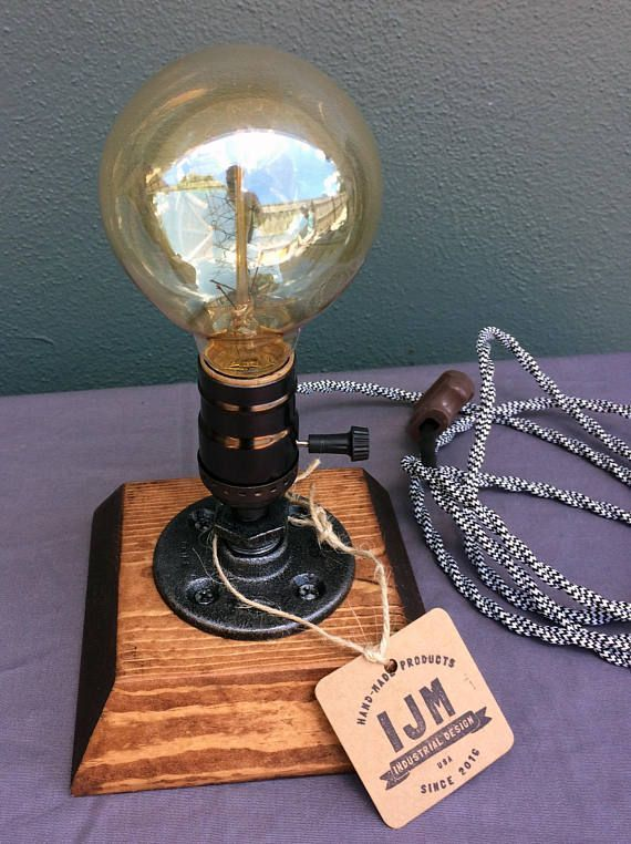 Industrielle Lampe-Rustikale Tischlampe-Steampunk Reading Desk Light-Pipe Lampe-Vintage-Lampen
