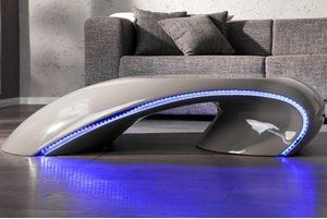 Fancy DuNord Design Couchtisch TUBE mit LED Beleuchtung grau lounge Pinterest Products As and LED