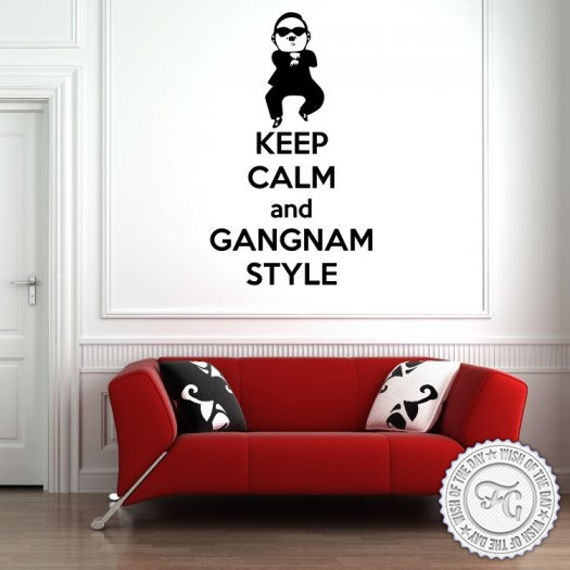 Monday. Keep Calm and Gangnam Style. Wall Sticker by Bouf. #home #homedecor #decoration #funny #keepcalm