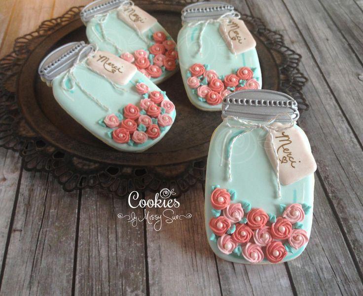 Jar of Roses | Cookies by Missy Sue | Cookie Connection