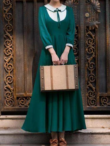 Винтажное платье / Vintage dress #greendress