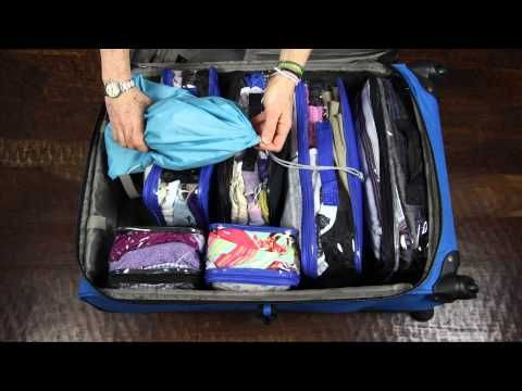 Watch to see the Complete Bundle packed into a large suitcase. Our cubes maximize the space in a suitcase - this suitcase is packed with clothes for 3-4 weeks!