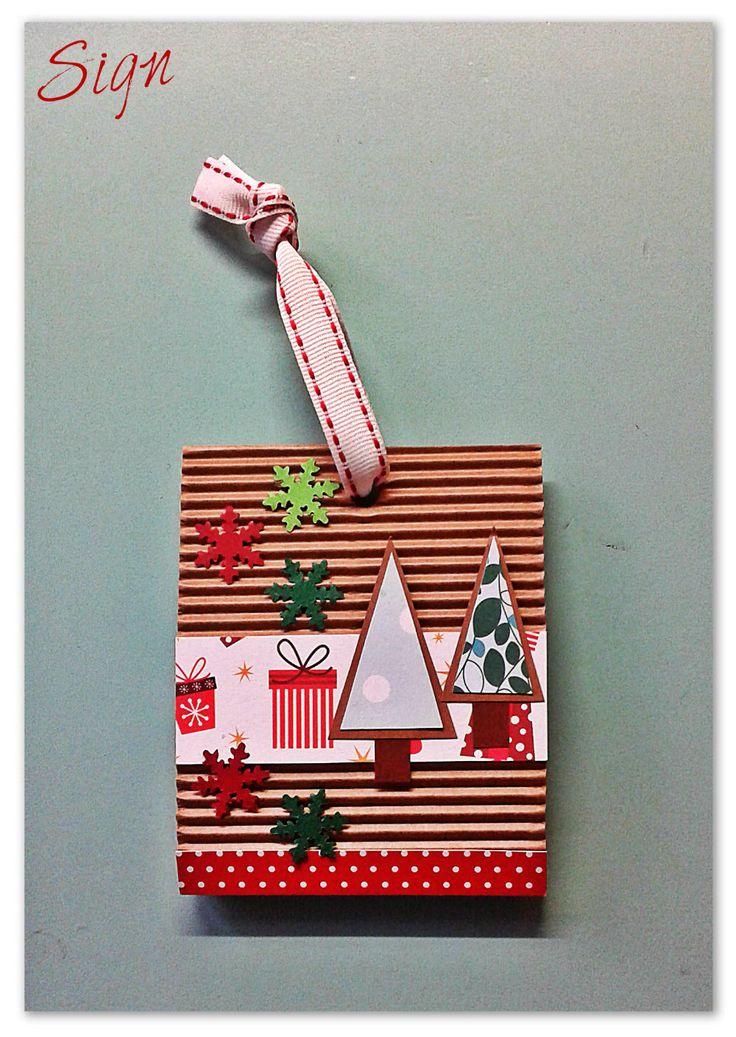 Biglietto d'Auguri a tema Natalizio realizzato con metodo Scrapbooking (Merry Christmas Scrapbooking Card)
