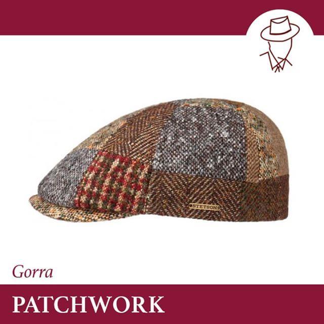 GORRA PATCHWORK La gorra PATCHWORK es una gorra de lana con estampado  patchwork de diferentes texturas 421313c1e54