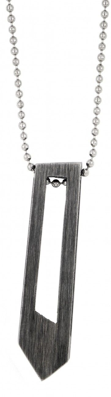 charcoal obelisk pendant by love your work design