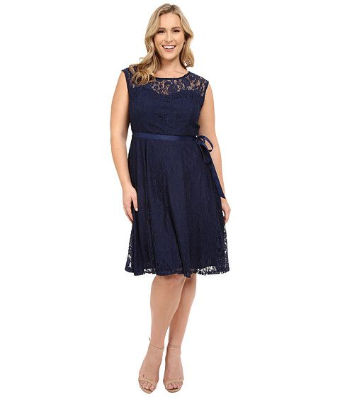 Christin Michaels Plus Size Faith Lace Sleeveless Dress