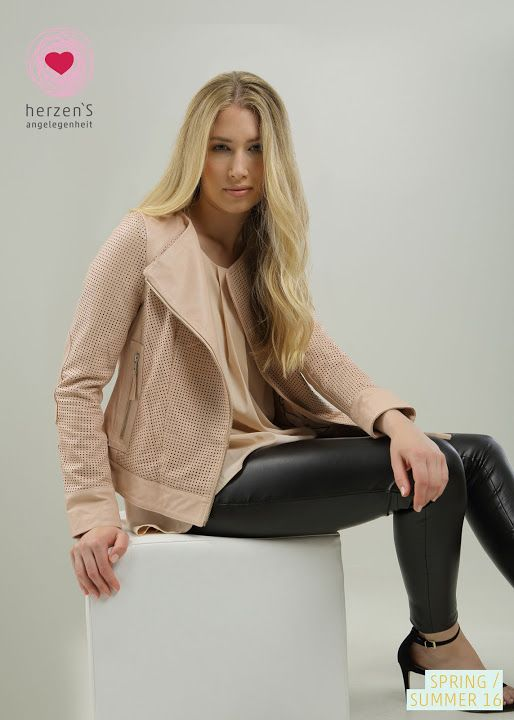 Spring Summer 2016 - leather jacket - Picasa Web Albums #jacket #softpink