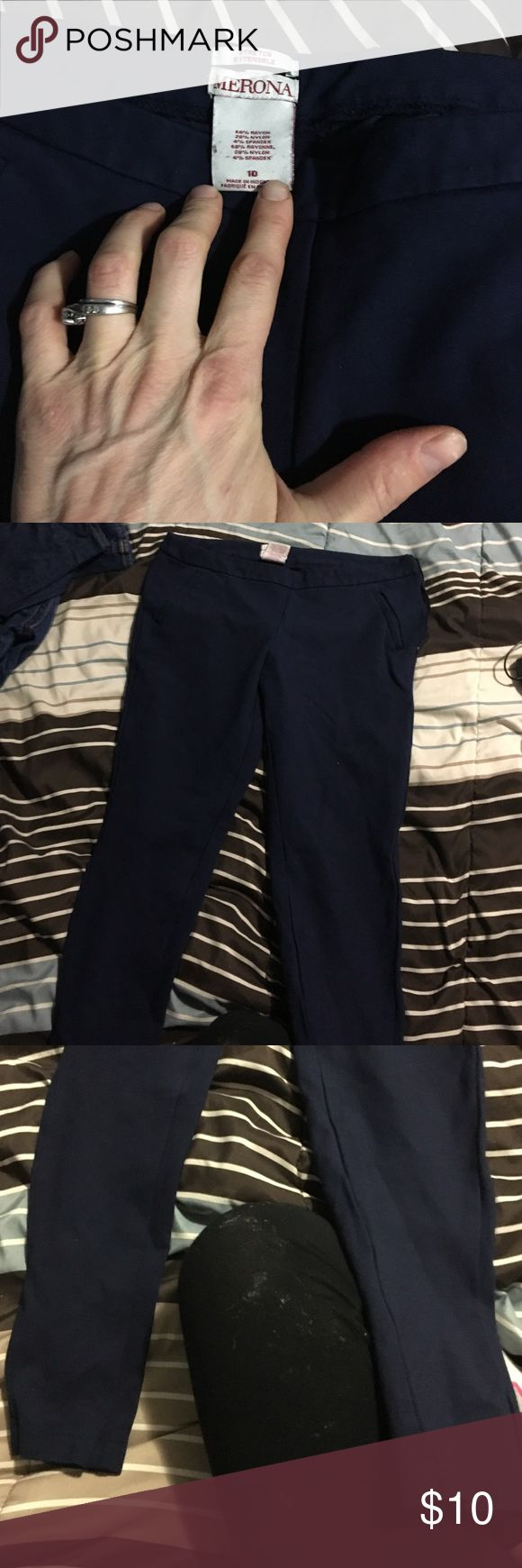 Merona Navy Blue stretch dress pants- skinny leg Navy Blue stretch dress pants Merona Pants Skinny
