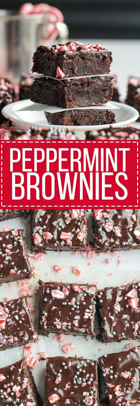 ... brownie recipe is topped with dark chocolate ganache and crushed candy
