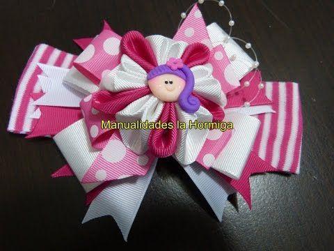 Nuevos modelos de moños y flores para decorar accesorios para el cabello paso a paso - YouTube