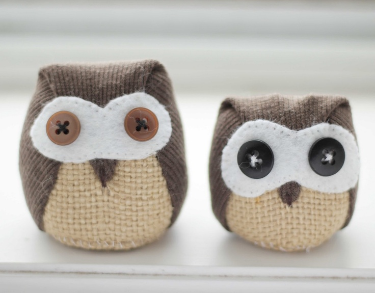 These would be so cute in burlap or made from an old suit.