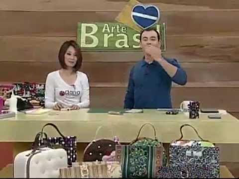 ▶ ARTE BRASIL - CLAUDIA WADA - CARTEIRA MÁGICA EM CARTONAGEM (13/07/2011) - YouTube