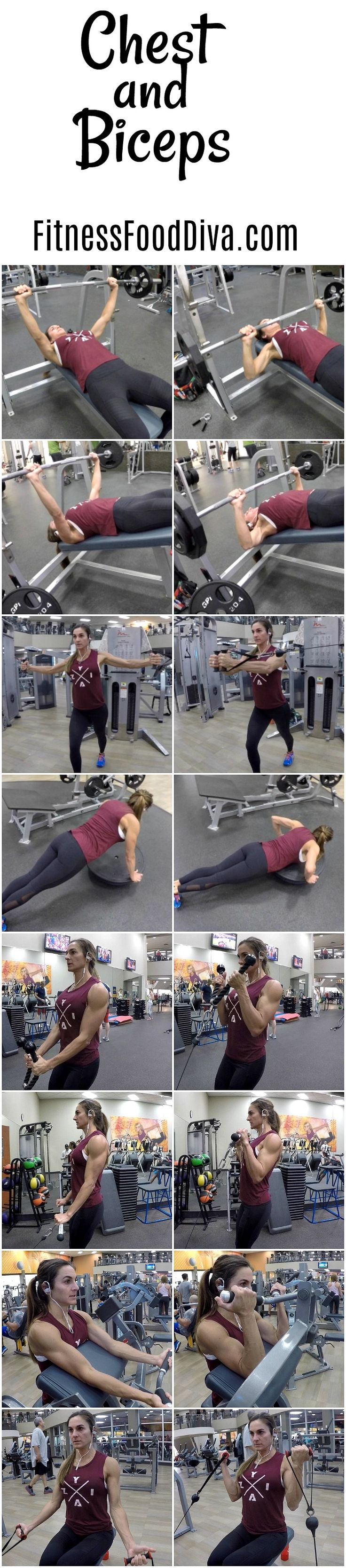 Chest and Biceps to build muscle and tone those upper bodies.