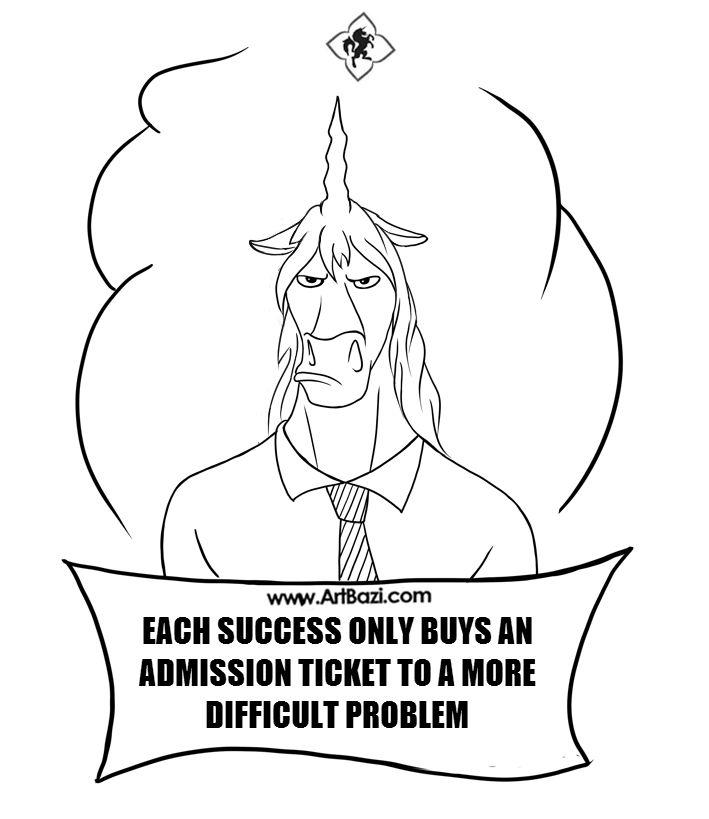 Success Is A BIG HEADACHE Archibald Unicorn Meme Digitalart Digital