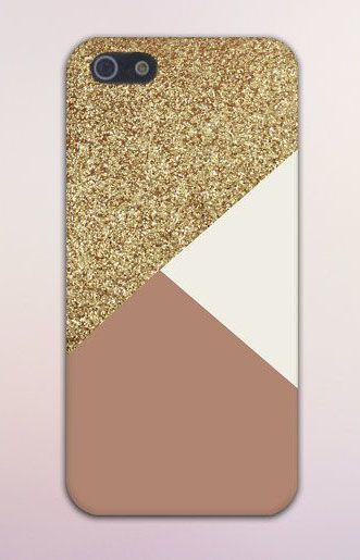 Geometric Golden Sand x Dark Pink Design Case for iPhone 6 6 Plus iPhone 5 5s 5c 4 4s Samsung Galaxy s6 s5 s4 & s3 and Note 5 4 3 2