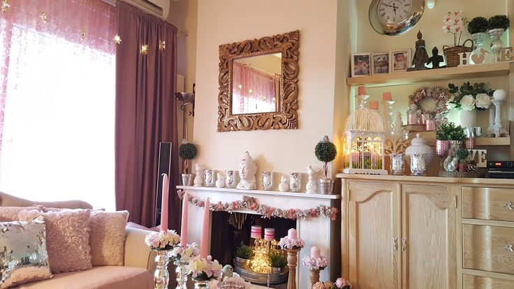 Dusty pink rustic  winter decoration