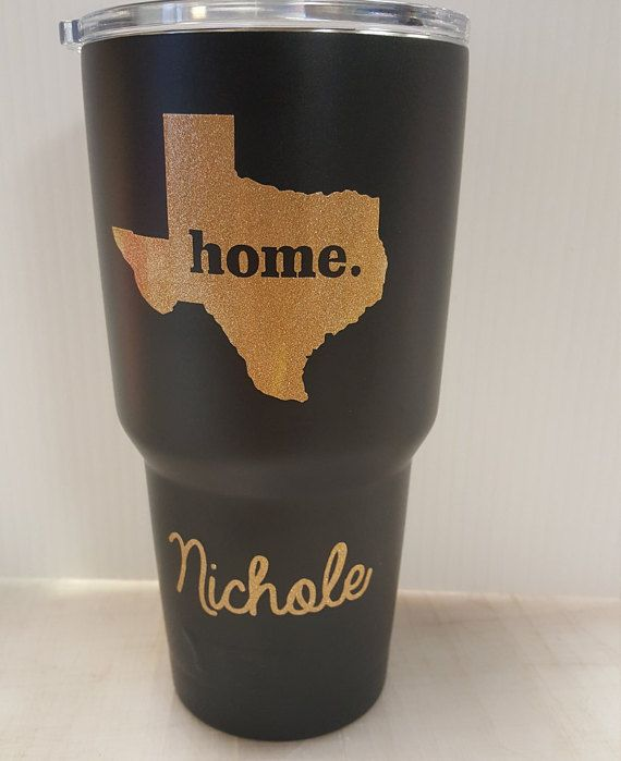 Christmas gift 20oz or 30oz yeti personalized with texas state decal on yeti rambler tumbler