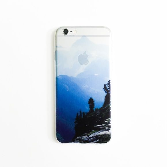 Mountain View iPhone 6&6S Case So chic! Soft, not hard shell. All photos are my own, not manufacturer's. No reserves & holds. Slightly translucent. Installed on Silver iPhone for photo. • BECAUSE OF LIGHTING, PLEASE BE AWARE THAT COLOR OF THE ACTUAL ITEM MAY SLIGHTLY VARY FROM THE PHOTOS • PRICE IS FIRM UNLESS YOU BUNDLE • NO TRADES Accessories Phone Cases