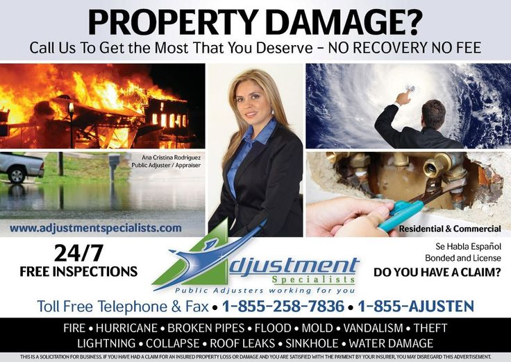 Adjustment Specialists Public Insurance Adjusters for South Florida provide the most thorough Public Adjusting Services and our professional insurance claim representation is the best in the industry.