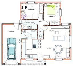 """Résultat de recherche d'images pour """"plain pied 2 chambres + garage"""""""