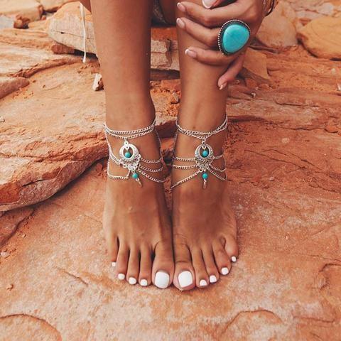 Bohemian Beach Ankle Bracelet   Anklet