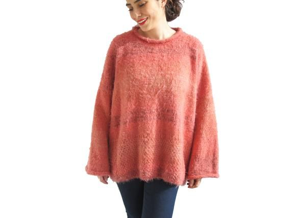 Slouchy Sweater, Oversize Sweater, Plus Size Sweater, Oversize Chunky Knit Sweater, Slouchy Bulky Lo 13