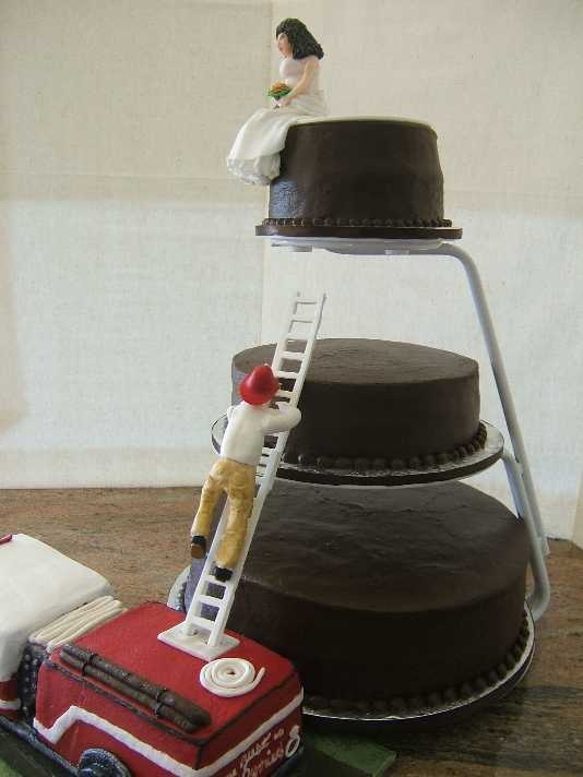 GORGEous Cakes by Kris: Fire Truck Grooms Cake with Wedding Cake