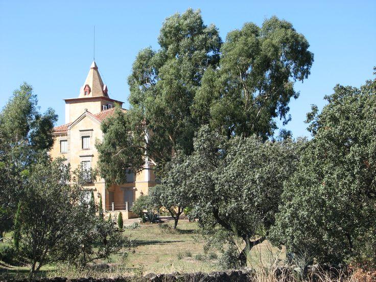 El Palacio de la Dehesa de las Berrozanas adorna el paisaje a la salida de Plasencia hacia Salamanca. Se encuentra en el límite de los regadíos del pantano de Valdeobispo.