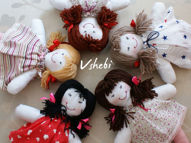 Handmade Vshebi dolls. Click the link in the description to see more. This cloth dolls are perfect for birthday gift. Customize your own by choosing dress pattern and hair collor! :)