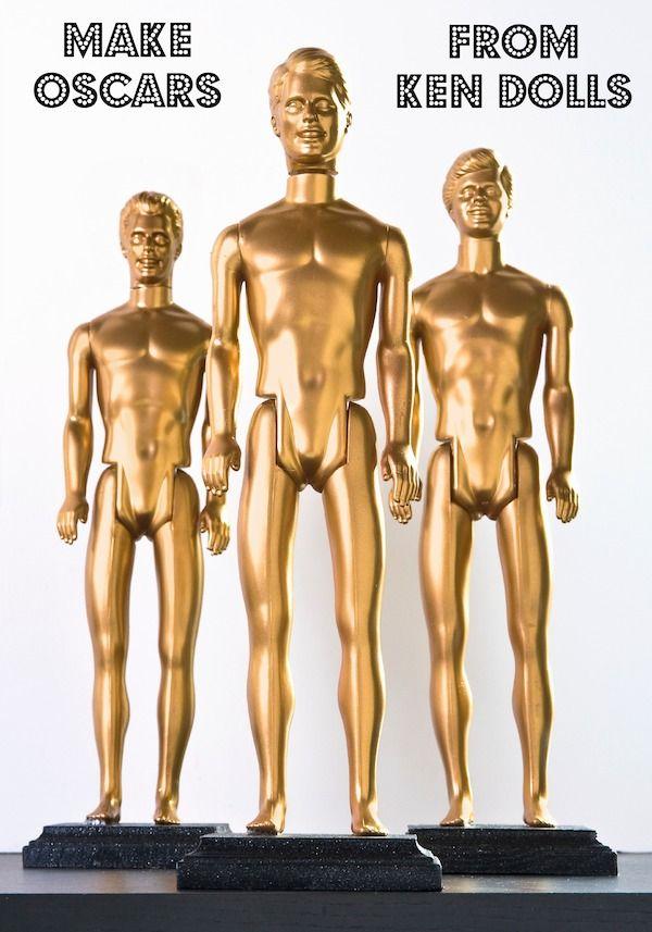 Make DIY Oscars from Ken dolls