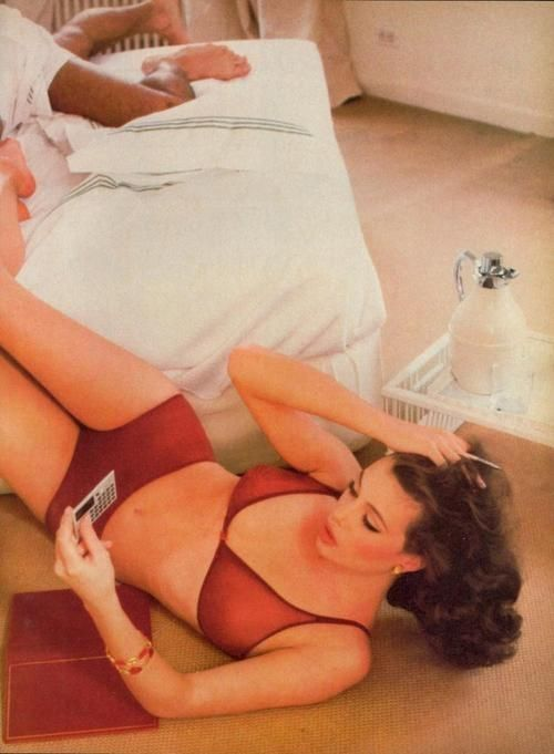 Kelly LeBrock in Vogue US, August 1980