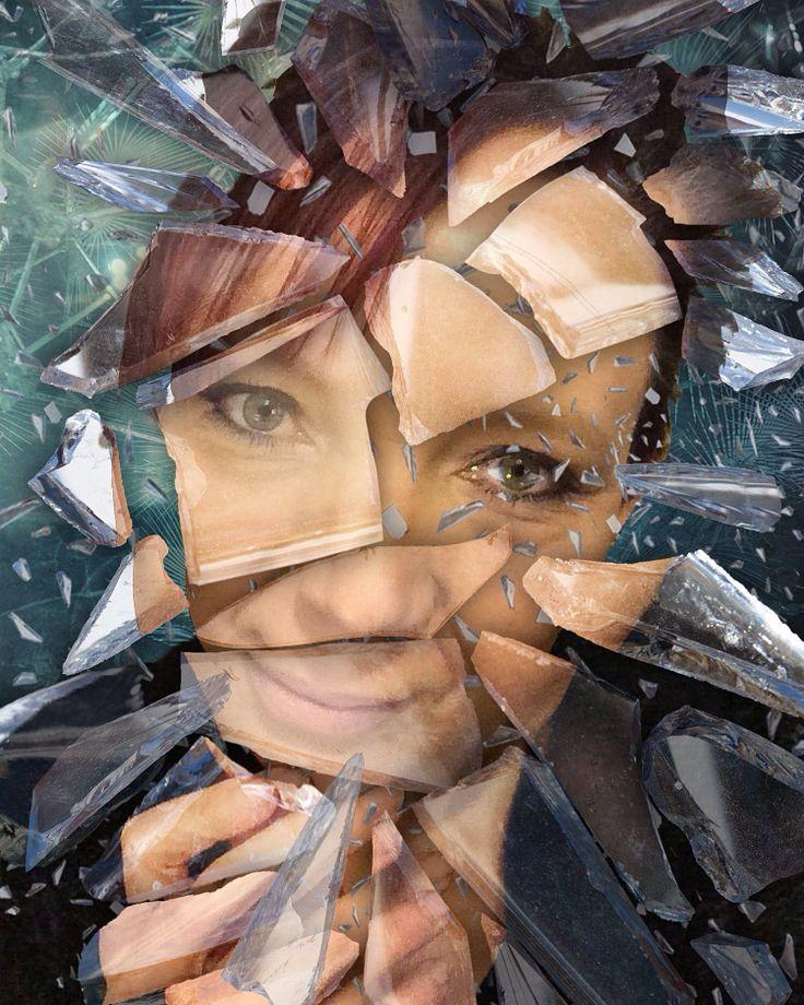 Broken glass portrait. Beginning to get hang if photoshop. :)