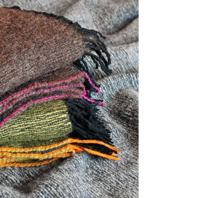 Woolen, handwoven blankets, inspired by Norwegian nature. Handwoven, 100 % wool. Weaving is my passion!