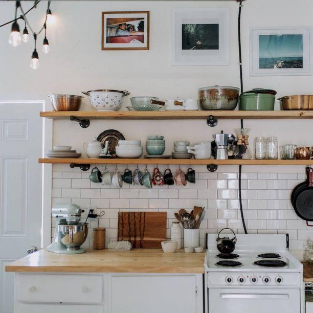 cool 88 Incredible DIY Kitchen Open Shelving Ideas https://homedecort.com/2017/05/88-incredible-diy-kitchen-open-shelving-ideas/