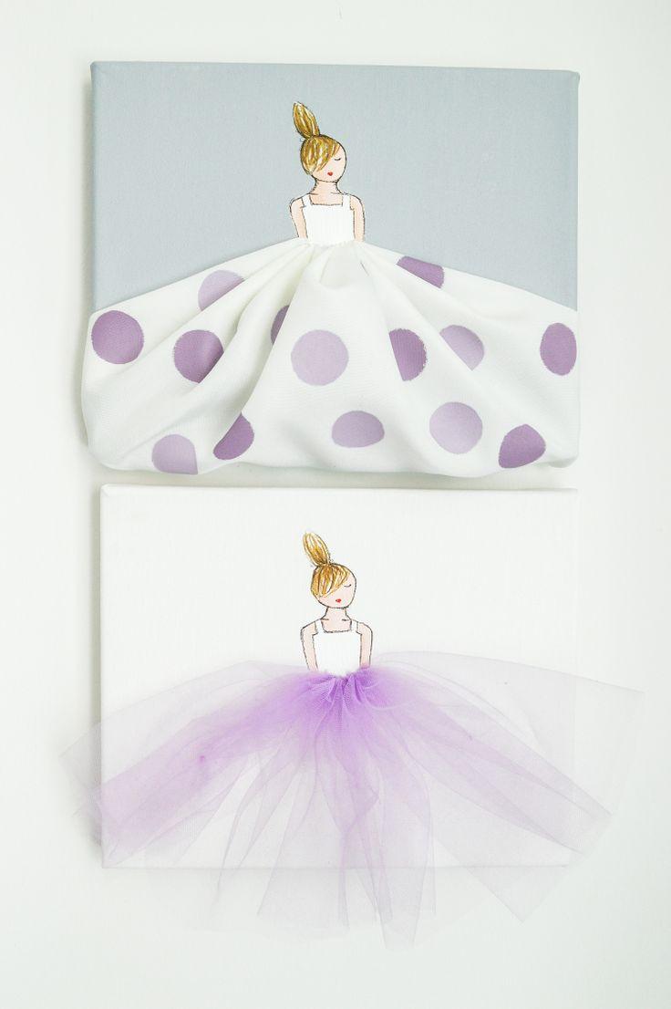 Set Of 2 Lavender Nursery Artwork   Custom Designed By ShenasiConcept    Girls Room   Ballerina