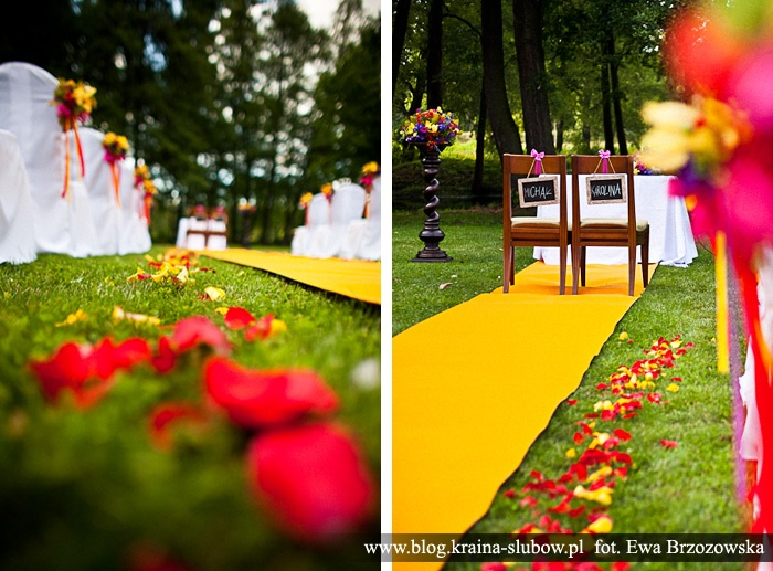Wedding aisle / Kraina Ślubów / fot. Ewa Brzozowska