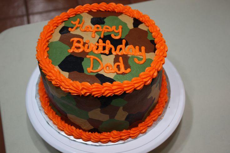 Camo cake idea @Taylor Leigh dad would love this haha