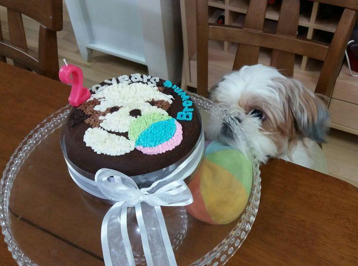 Shih tzu birthday cake