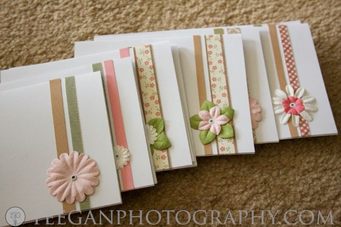 Home-made blank cards ... such a great idea!