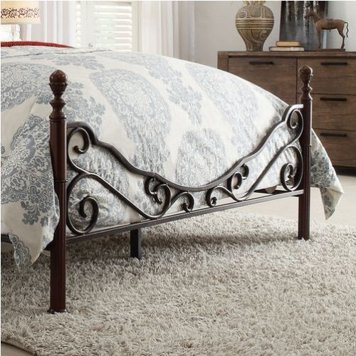 FULL Size Metal Bronze Iron Bed Frame Antique Style Bedroom Furniture - Graceful