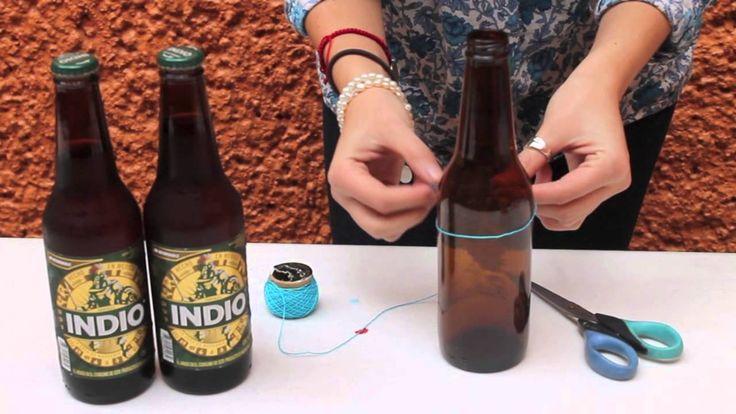 ¿Cómo cortar botellas de cerveza?