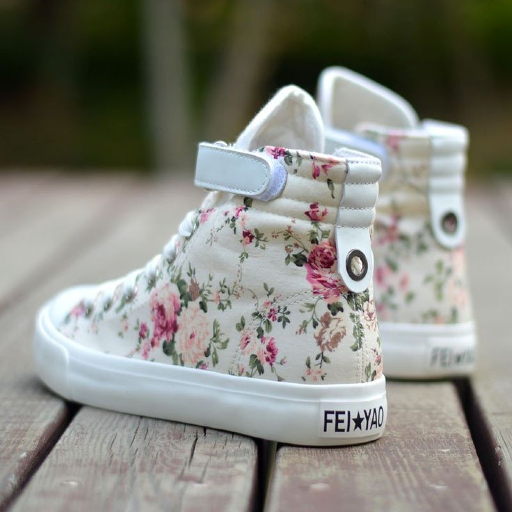 """Students floral canvas shoes Coupon code """"cutekawaii"""" for 10% off"""