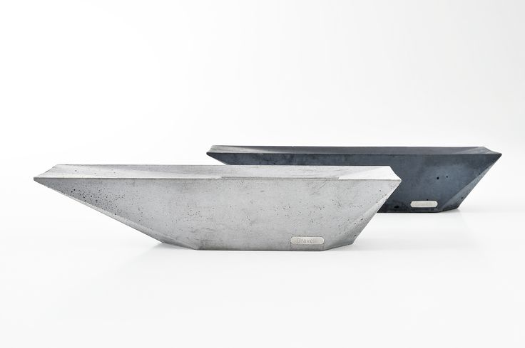 Concrete stylish ashtray by Gravelli in grey & anthracite variant.